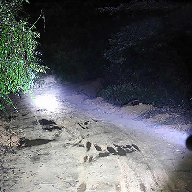 Linterna LED de 450lm, potente luz de Flash, linterna de bate de béisbol superbrillante para emergencias, batería de defensa personal 18650