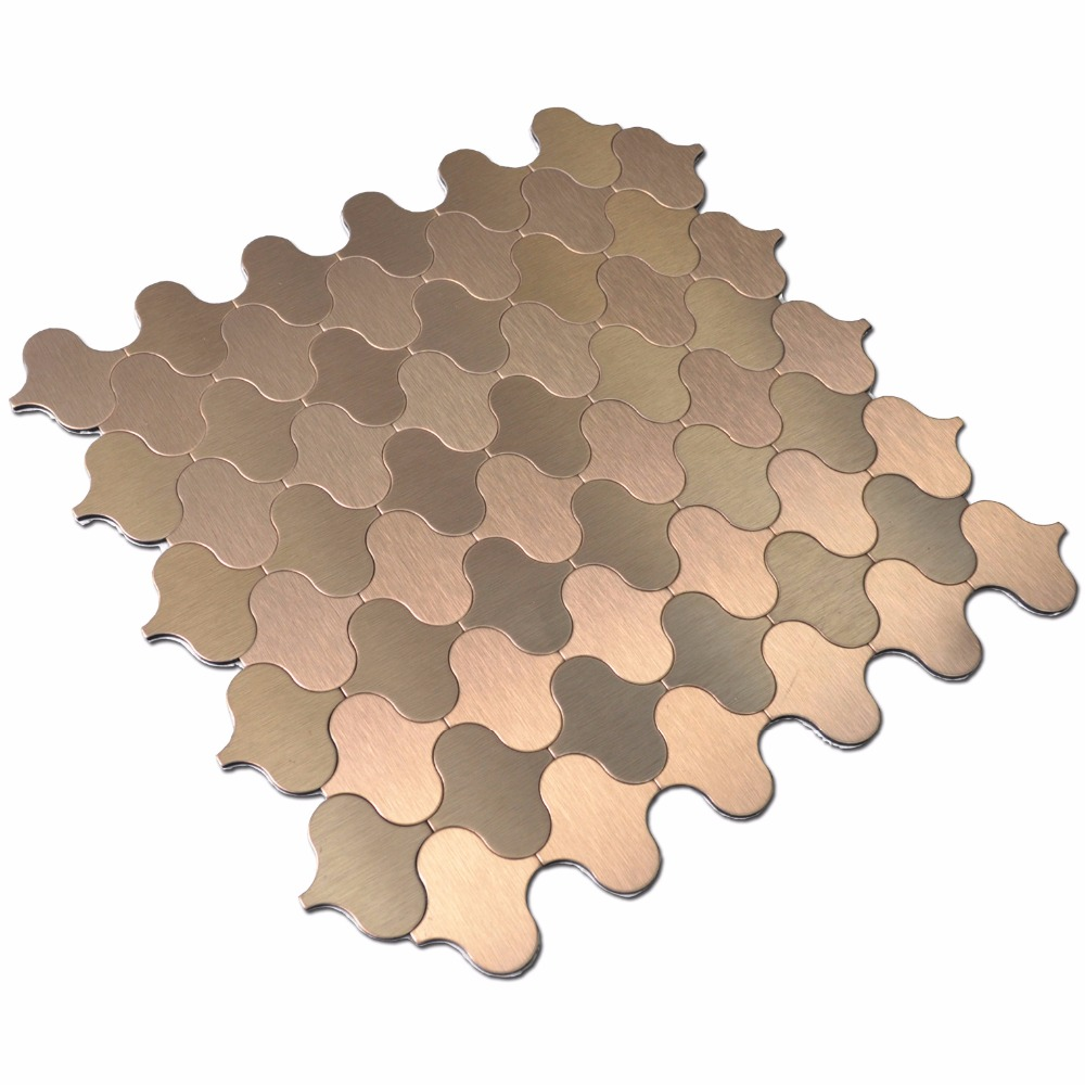 Peel & Stick Fliesen Metall Mosaik Stahl Wandanschluss Dekorative ...