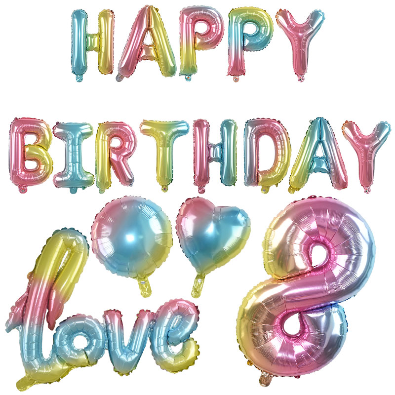 Happy Birthday Table Decoration  Honeycomb Or Foil Fountain Balloon Print