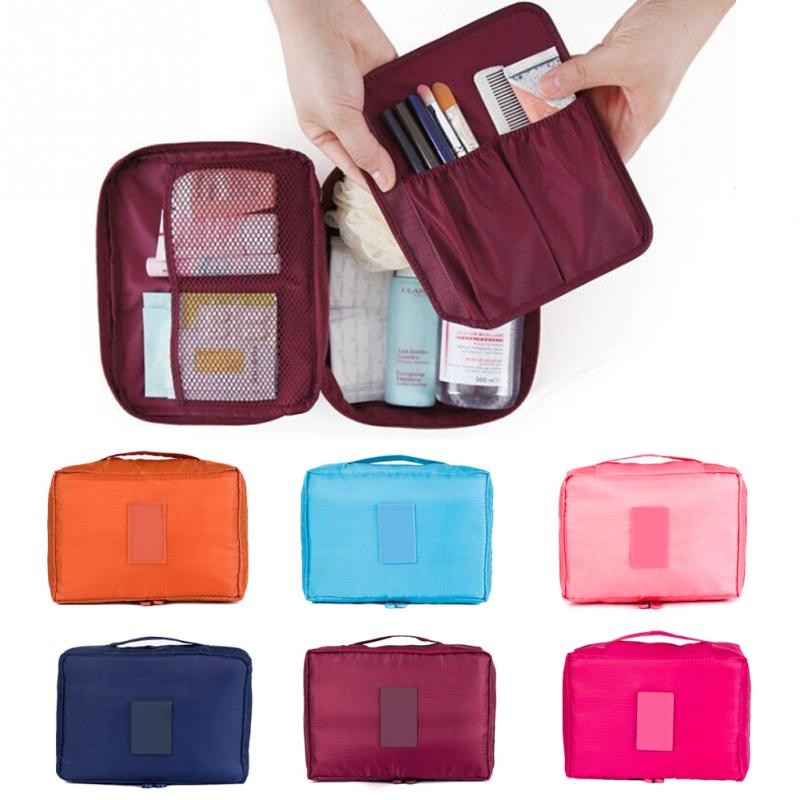 Zipper new Man Women Makeup bag Cosmetic bag beauty Case Make Up Organizer  Toiletry bag kits Storage Travel Wash pouch-in Cosmetic Bags   Cases from  Luggage ... 0c76fcac67f1c