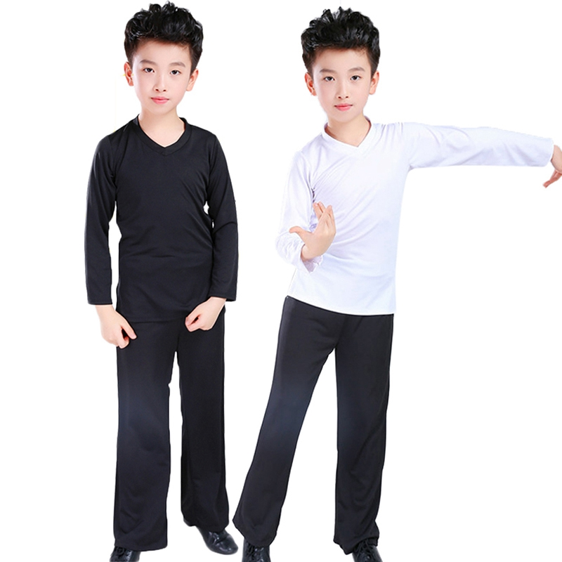 Image 2 - New Latin Ballroom Dance Costume Shirt Pants Boys Modern Ballroom Tango Rumba Samba Dancewear Latin Dancing Competition Clothes-in Latin from Novelty & Special Use