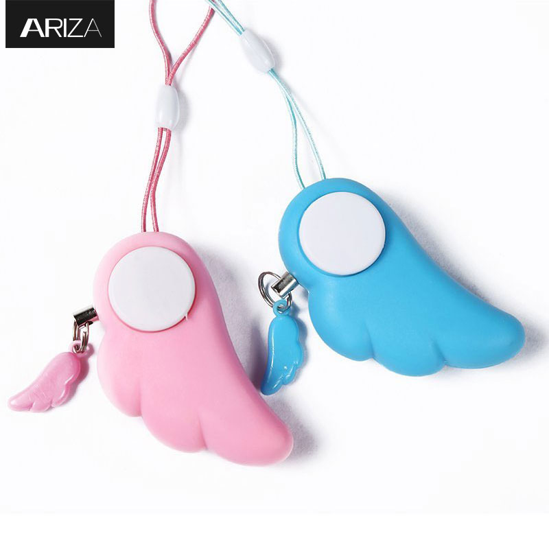 Self Defense Supplies Keychain Alarm Anti-lost Security Alarm Emergency Panic Alarm System Safety Alarm Keychain For Girls Kids