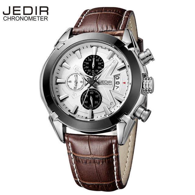 JEDIR  Brand Luxury Men Sport Chronograph 6 Hands Date Function
