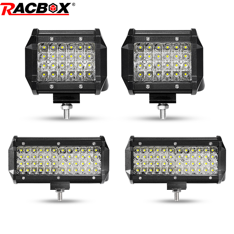 Car Lights Racbox 4d 4 27w Led Work Lights 6500k Cold White 2100lm Motorcycle Boat Tractor 4x4 Suv Atv Led Driving Lamp Spotlight 12v 24v Attractive Designs;