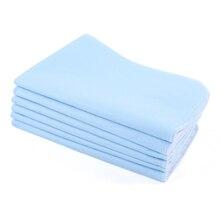 6 шт Многоразовые моющиеся подушечки, впитывающие подушечки для взрослых, матрас, коврики, подушка, синий+ белый 45*60