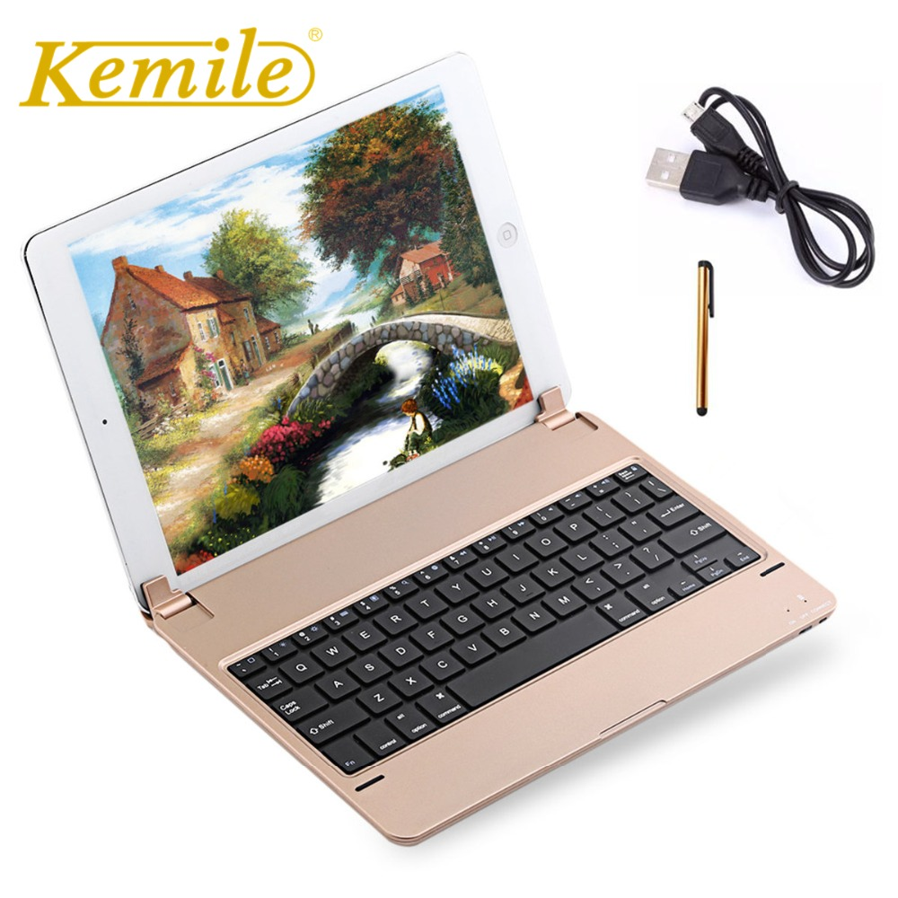 Kemile For ipad 2017 Built in Stand Wireless Bluetooth Keyboard For New ipad 2018 A1893 A1954 Bluetooth Keyboard Keypad klavyeKemile For ipad 2017 Built in Stand Wireless Bluetooth Keyboard For New ipad 2018 A1893 A1954 Bluetooth Keyboard Keypad klavye