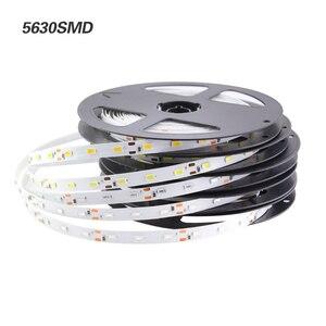 Image 3 - LED רצועת 2835 5050 5630 לבן חם לבן LED רצועת 5M 60 נוריות/M 300Led SMD RGB מנורות DC12V גמיש אור קלטת סרט Ledstrip