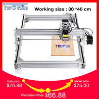 500mw/2500mw /5500mw Desktop DIY Violet Laser Engraving Machine Picture CNC Printer, working area 40cmx30cm