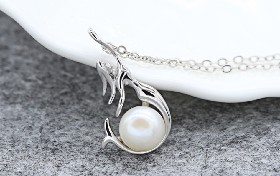 HTB1u.YIkAKWBuNjy1zjq6AOypXaR ORSA JEWELS 925 Sterling Silver Women Necklaces&Pendants Freshwater Pearls Unique Mermaid Pendants Fashion Female Jewelry PSN48