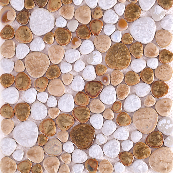 Porcelain Pebble Mosaic Tile Kitchen Backsplash Bathroom