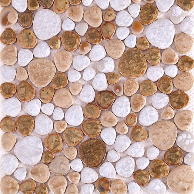 Porcelain Pebble Mosaic Tile Kitchen Backsplash Bathroom Swimming Pool Wall Paper Tiles Garden Saloon Floor Shower