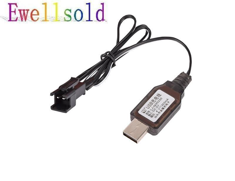 Ewellsold <font><b>6V</b></font> <font><b>USB</b></font> <font><b>charger</b></font> SM 2P plug for <font><b>6V</b></font> Ni-CD battery /<font><b>6V</b></font> Ni-MH battery 2pcs/lot image