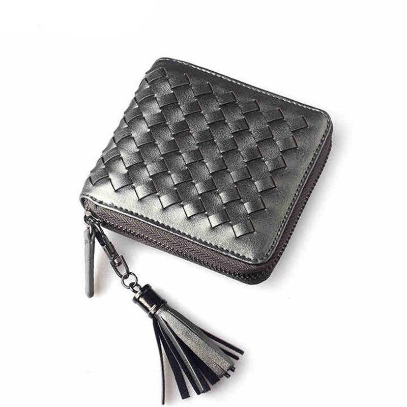 HOT Luxury women Mini sort Wallet Card Case Purse woven Credit Cards Holder Bag Key Holder for Bank Cards Pack Cash Pocket цены онлайн
