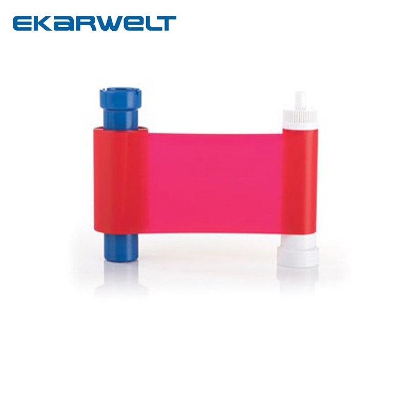 Ruban de résine rouge Magicard Compatible film de teinture monochrome rouge MA1000R 1000 impressions/rouleau