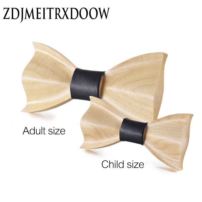 2017 Brand New Kid 3D High-end Wooden Bow Tie Boys And Girls Dress Shirts  Suits Bow Tie Children Boys Girls Wooden Bow