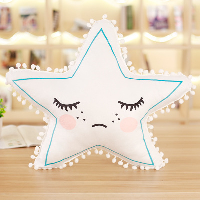 52cm Pentagram 3D Star Ball Tassels Bed Sofa Bed Sleeping INS Doll Plush Stuffed Baby Child Toys Xams Gift Dash Cushion pillow