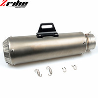For 51mm Motorcycle Exhaust Pipe Scooter Modified Muffler Pipe Universal For Honda RVT1000 RVT CB400 CB650