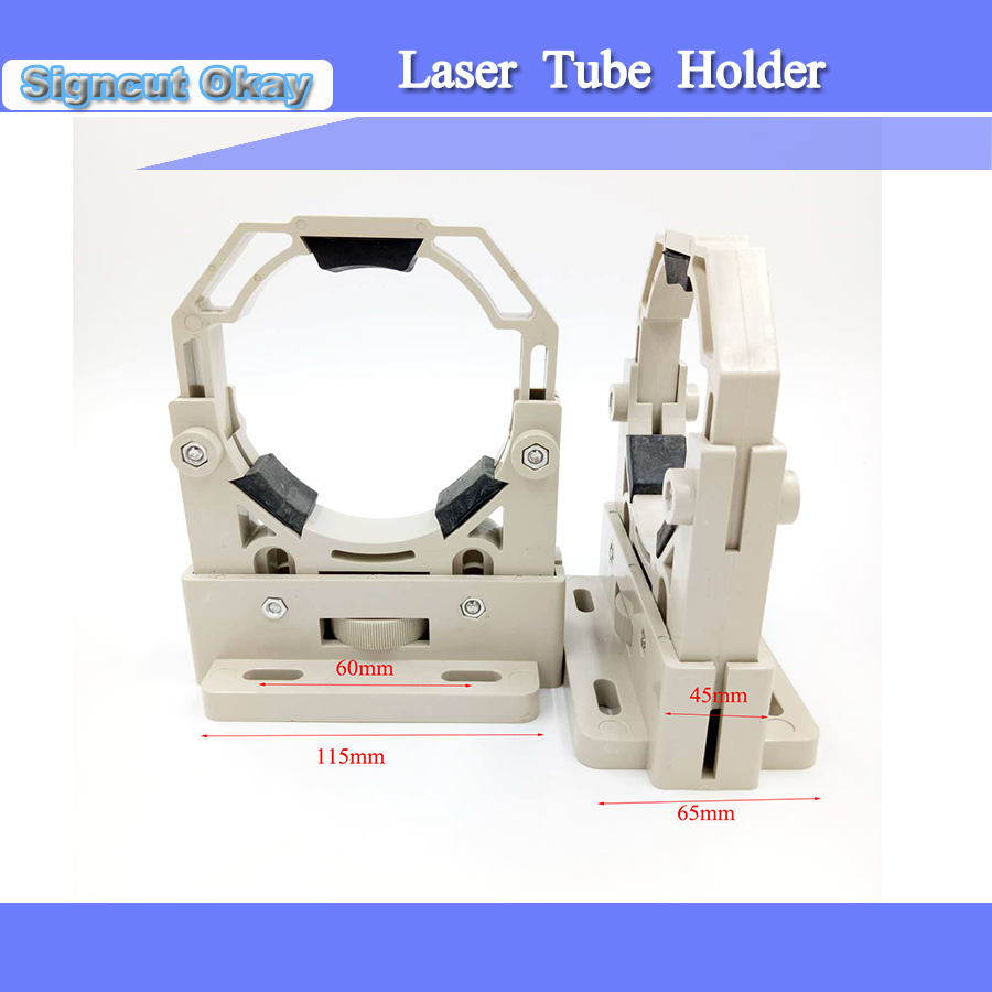Plastic Laser Tube Holder 2PC/lot with Adjusted 50 mm 80 mm Used for 50 180W Laser Engraver machine Free Shipping|holder machine|lot lot|lot 50 - title=