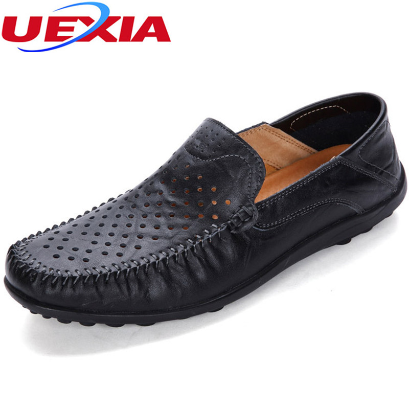 Brand Summer Causal Driving Shoes Men Loafers PU Leather Moccasins Men Shoes Flats Hollow Breathable Slip-On High Quality Hombre summer causal shoes men loafers genuine leather moccasins men driving shoes high quality flats for man