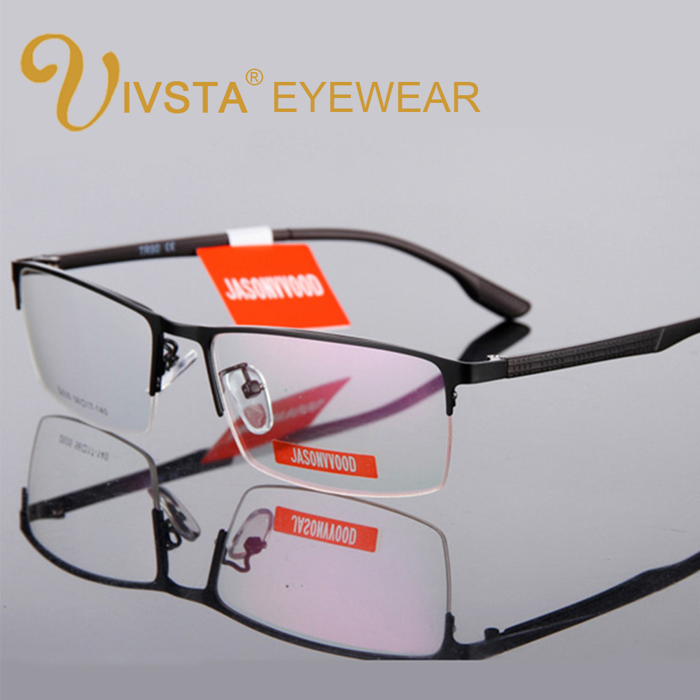 IVSTA Half Rim Optical Glasses Men Glasses Myopia TR90 Reading Prescription Computer Custom Degree Square Semi Rim Spectacle