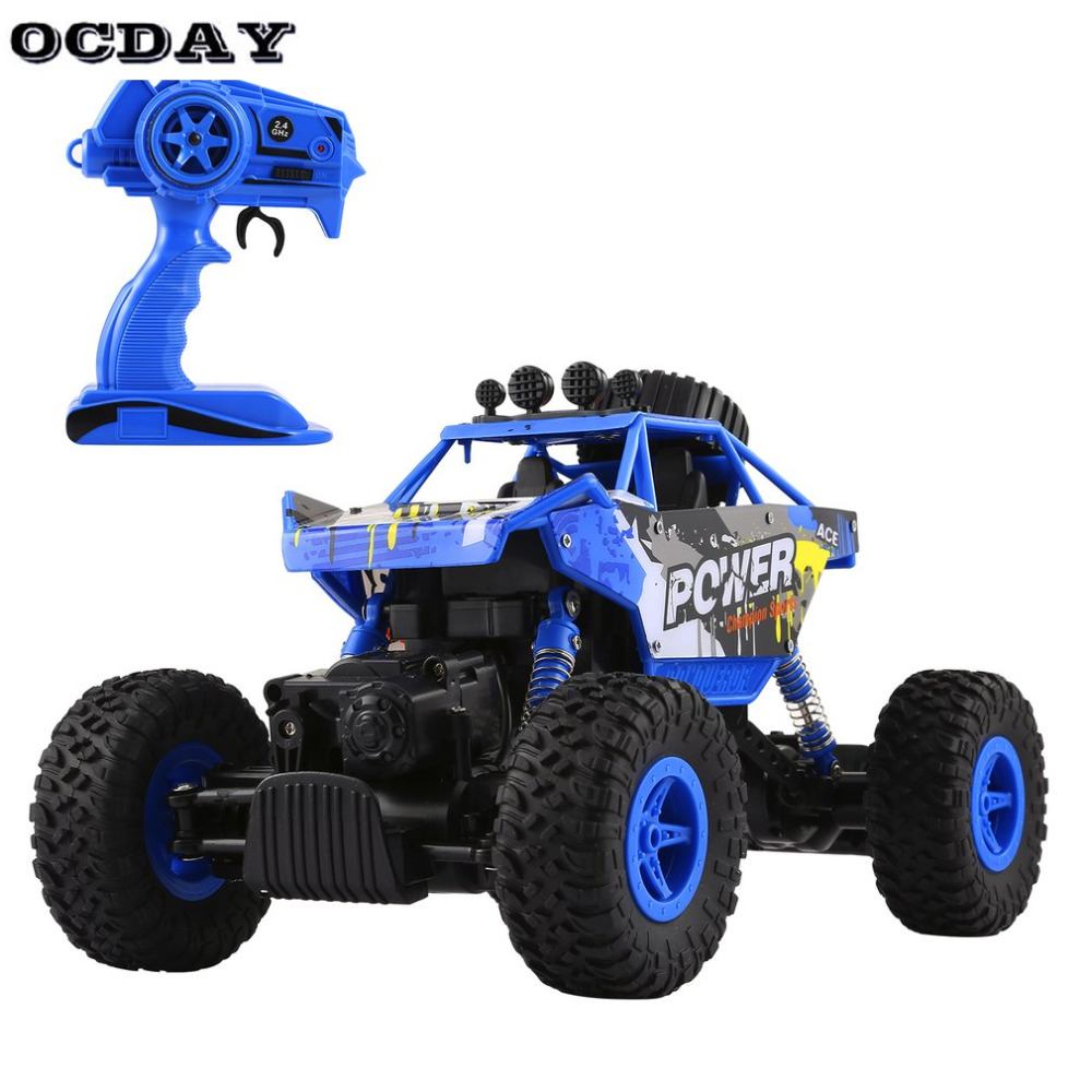 Boys RC Remote Control Cars Toys 2.4GHz 4WD Rock Crawlers Rally Climbing Car High Speed Bigfoot Racing Model Off Road Car Toy