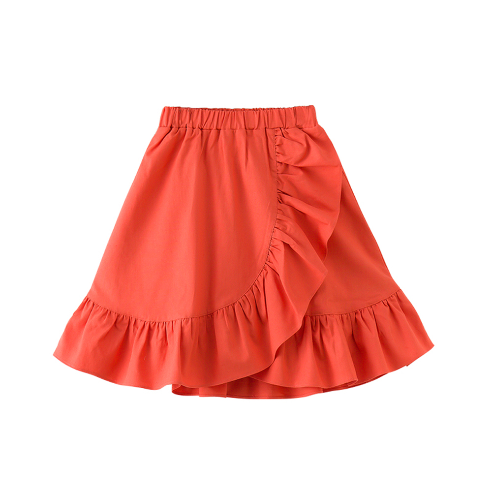 girl summer skirt 2018 new fashion cotton red/blue skirts for 3-12 years children fall skirt 7 seconds fish brand