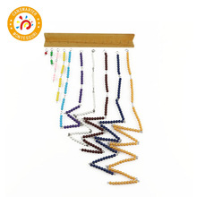 Montessori Materials Math Toys Short Bead Chain Number Practice Teaching Toy Preschool Color Bead Chains