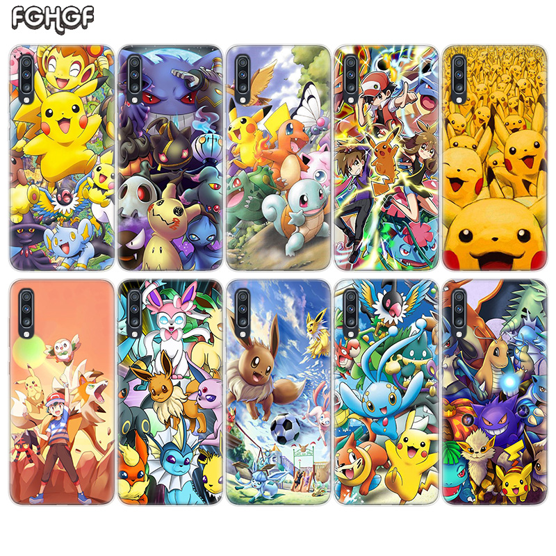 Pokemons go cartoon Soft Rubber Case For Samsung Galaxy S9 S8 A6 A8 J4 J6 Plus + J8 A7 A9 2018 S7 S6 Edge Note 9 8 Cover image