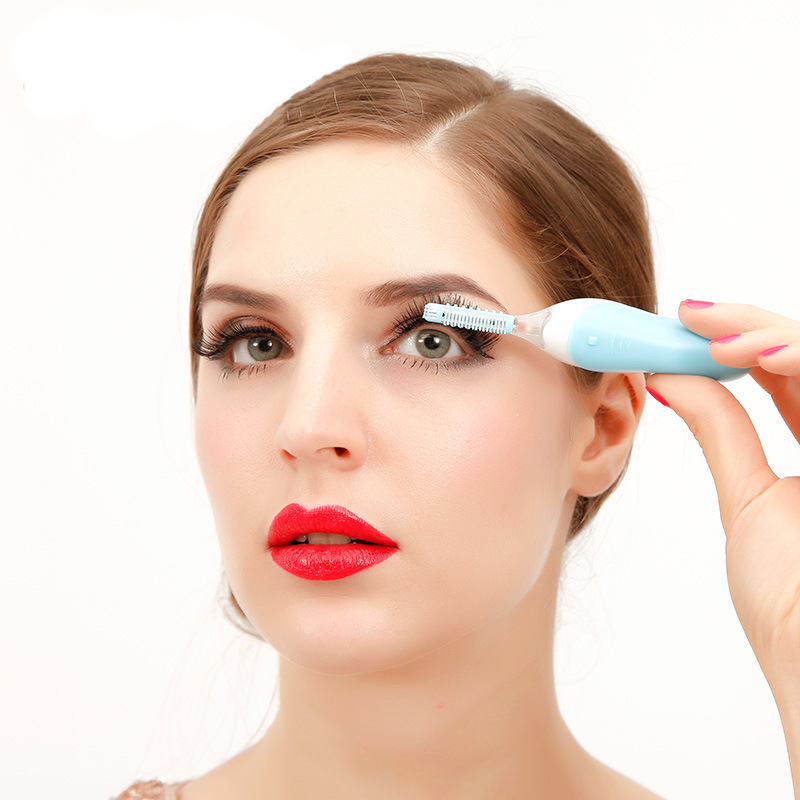 ELECOOL Portable Electric Eyelash Curler Heated Long Lasting Eyelash Curler Temperature Sensor Makeup Tools touch beauty electronic eyelash curler 2 aaa