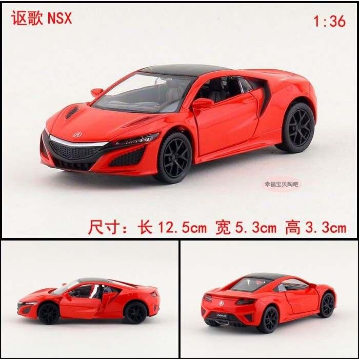 1PC 1:36 12.5cm Yufeng Honda Acura NSX Car Roadster Alloy