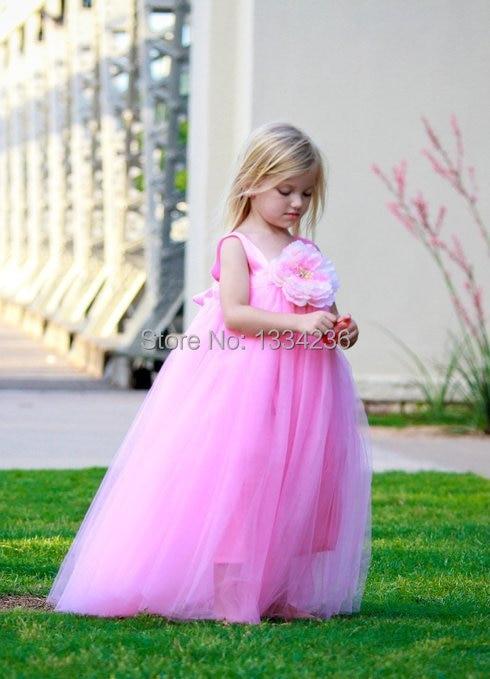 Lovely Girls\' Tutu Dresses White/Light Pink/Pink Tulle Floral ...