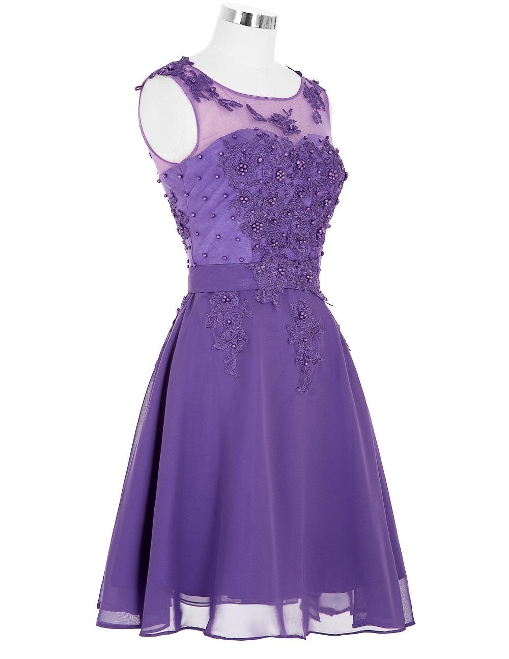 Púrpura corto vestidos de dama de under 50 grace karin vestidos de ...