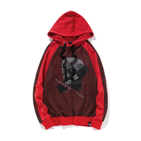 2018 New Style Wind Mesh Stitching Printing Loose Hooded Male Fashion Harlan Japanese Street Hip Hop