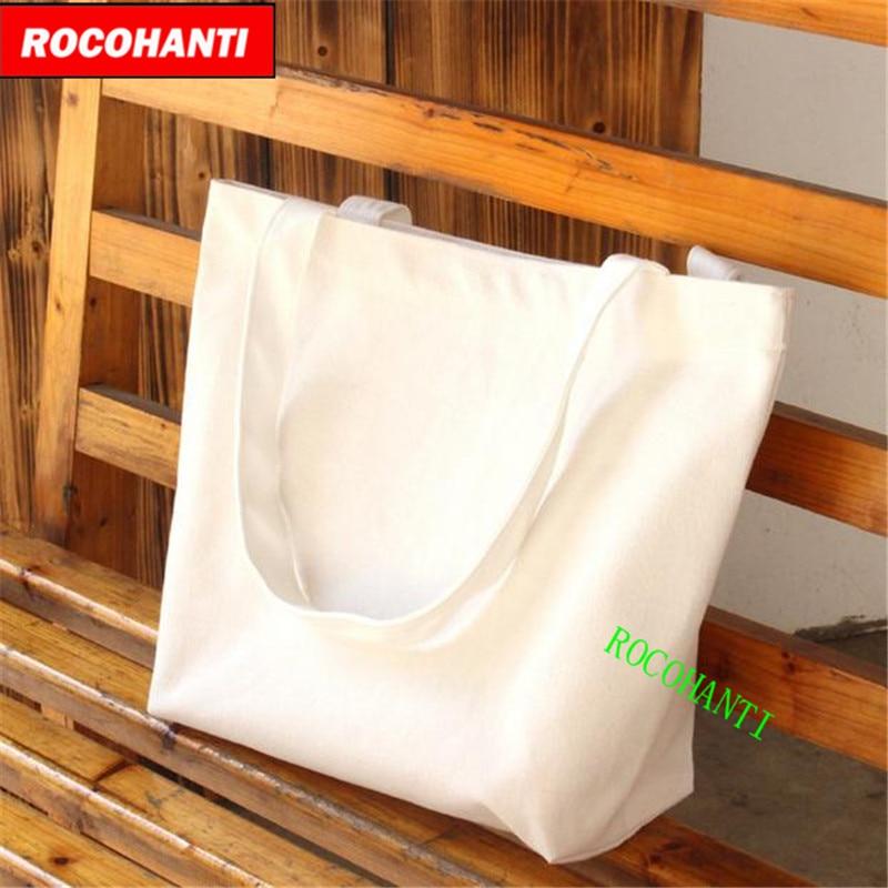 Large reusable grocery women tote bag big foldable shopping bag canvas cotton eco friendly bag by 42cm*35cm*10cm
