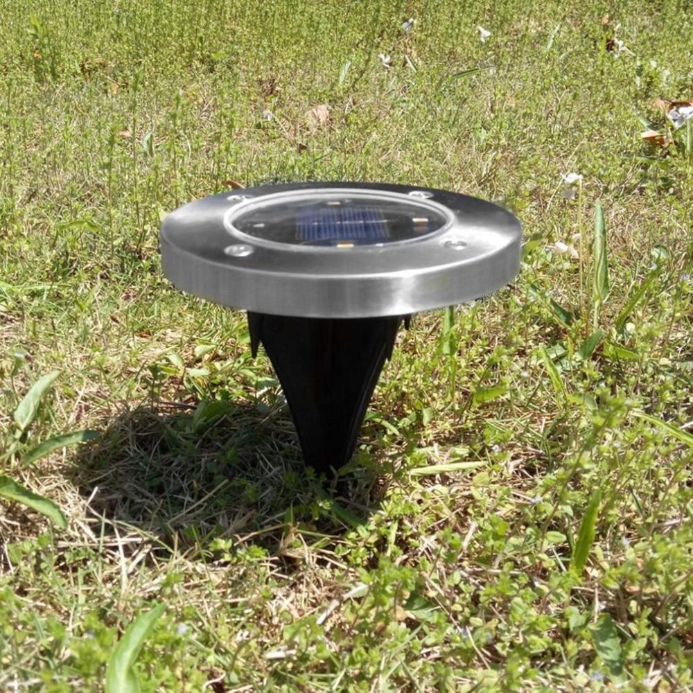4 LED Waterproof Solar Powered Ground Light Solar Lamp Energy Saving Light For Pathways Yard Home Garden Lawn Road Decoration