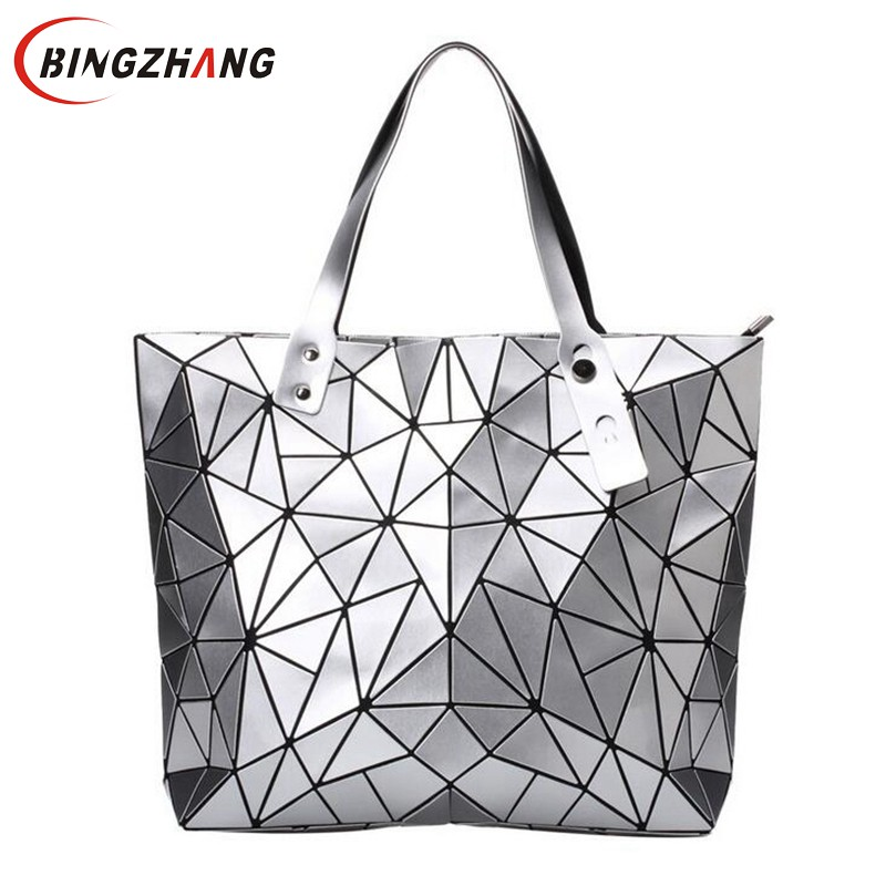 2018 Fashion Bao Bao Bag Women Tote Fold summer Hand Bag Laser Geometric Designer Handbags High Quality Shoulder Bags L4-3033