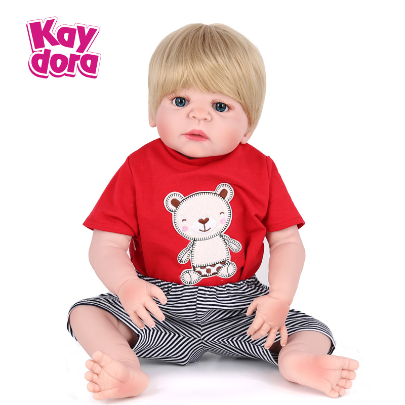 Kaydora 22 Inches Full Silicone Reborn Doll Lovely Bathe Boy Toys With Clothes Fashion Birthday Gift For Kids Collection medical model human skin block with hair anatomy model magnify human anatomical skin tissue anatomy medical model gasen rzpf005
