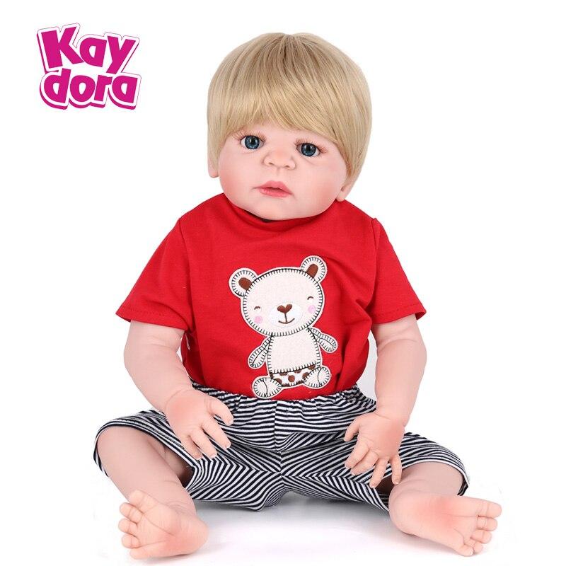 Kaydora 22 Inches Full Silicone Reborn Doll Lovely Bathe Boy Toys With Clothes Fashion Birthday Gift For Kids Collection кресло tetchair runner кож зам ткань черный серый 36 6 12 14