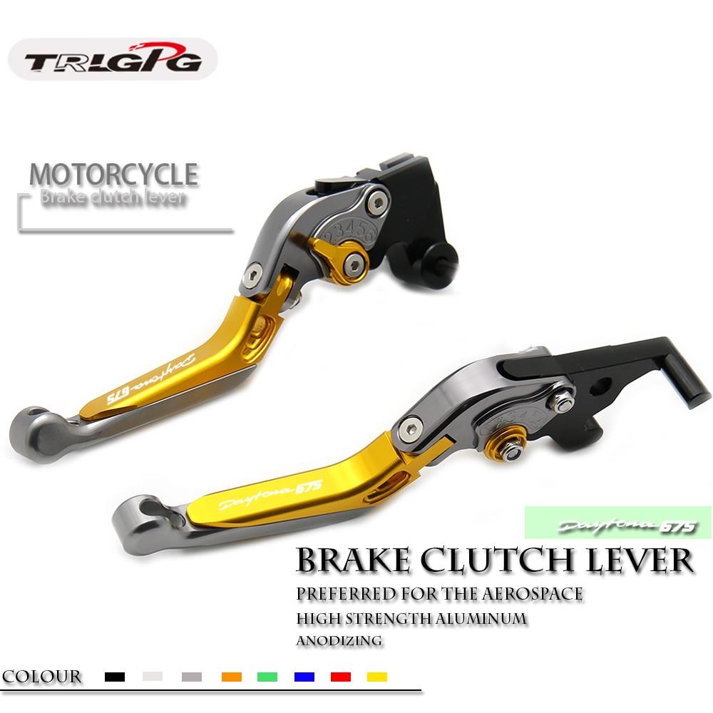 22 colors CNC Adjustable Folding Extendable Motorcycle Brake Clutch Levers FOR TRIUMPH DAYTONA 675 R 2011 2016 2015 2014 2013 12