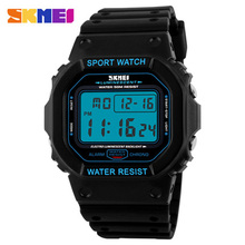 2016 Skmei Digital-Reloj Del Deporte de Los Hombres Reloj Militar Digital LED Reloj de Buceo 50 M Relojes de pulsera de Moda reloj del relogio masculino