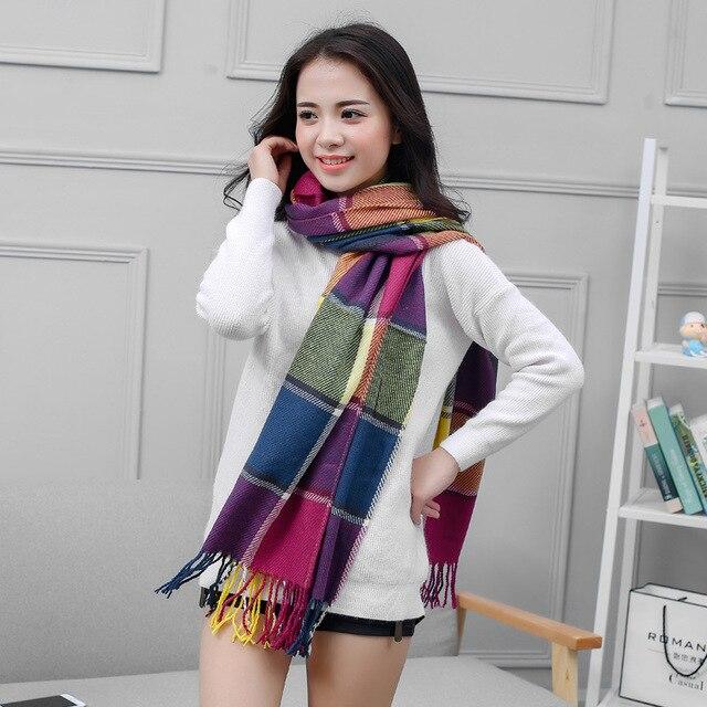 170 cm * 60 cm Mujeres Bufanda de Invierno Manta A Cuadros Bufanda Mujeres Chales Y Bufandas de la Bufanda de Marca de Lujo Del Nuevo Diseñador manta