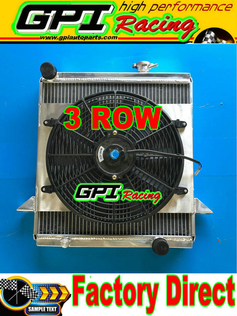 new aluminum radiator shroud fan for triumph tr6 1969 1974 1969 70