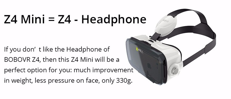 BOBOVR Z4 MINI Google Carboard 3D Virtual Reality Headset VR Glasses VR Box With Bluetooth Wireless Mouse Control Gamepad 1