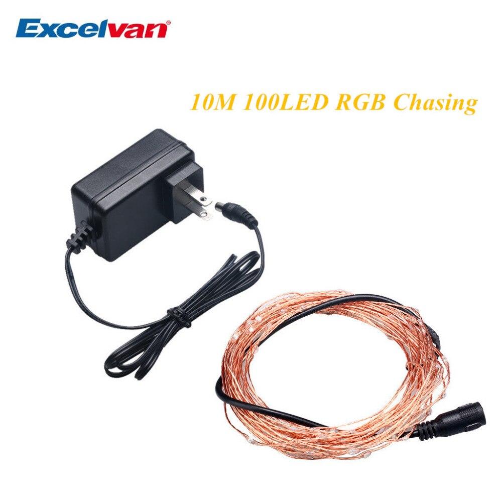 Excelvan 10M 100LEDs Copper String Lights,RGB Copper Wire Light ...