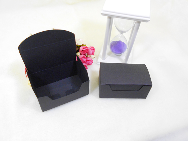 50pcs/lot: 9.2x5.5x4cm Black /Brown colors Kraft paper Gift Boxes Business namecard storage box for DIY cards free shipping