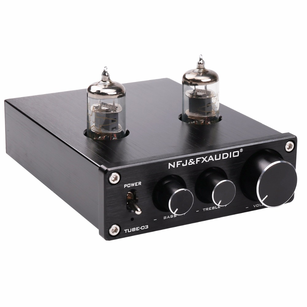 NEW FX-AUDIO TUBE-03 MINI Bile 6J1 Preamp Tube Amplifier Buffer HIFI Audio Preamplifier Treble Bass Adjustment Pre-amps DC12V 1pcs high quality little bear p5 stereo vacuum tube preamplifier audio hifi buffer pre amp diy new