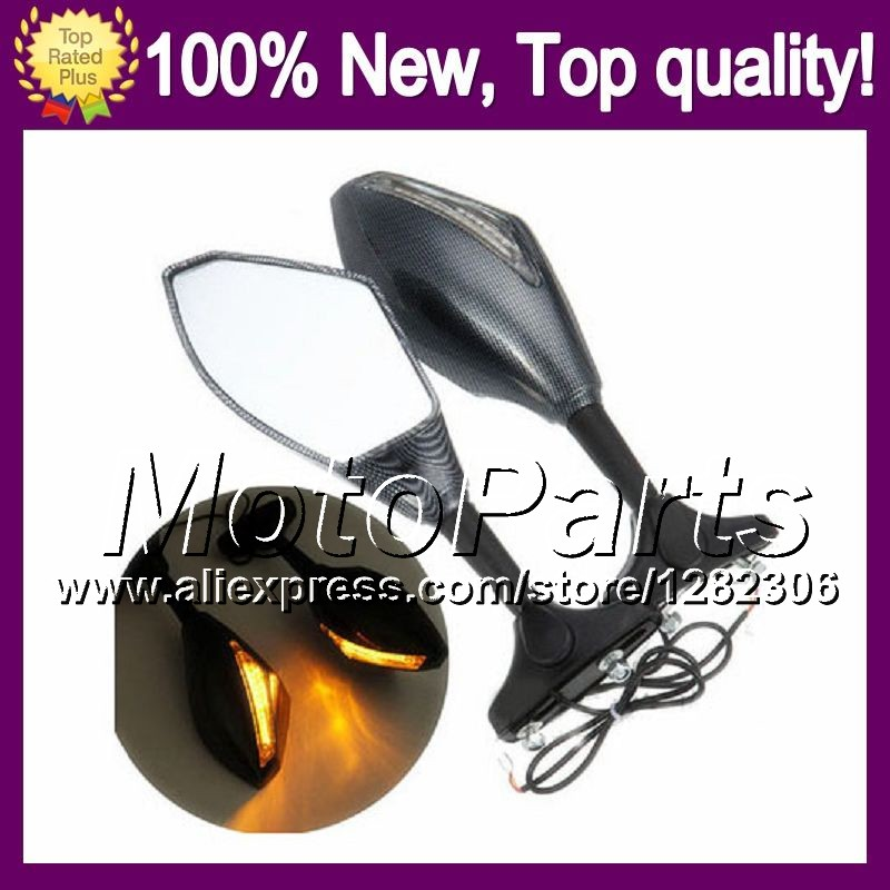 2X Carbon Turn Signal Mirrors For HONDA CBR600RR 05 06 CBR600 RR F5 CBR 600RR CBR