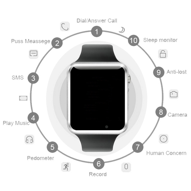 Men & Woman Bluetooth Enabled Smart Watch with SIM