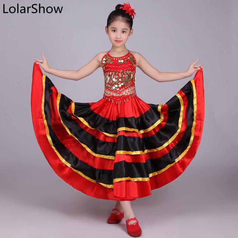 Spanish Dance Skirt Flamengo    Vestido Flamenca