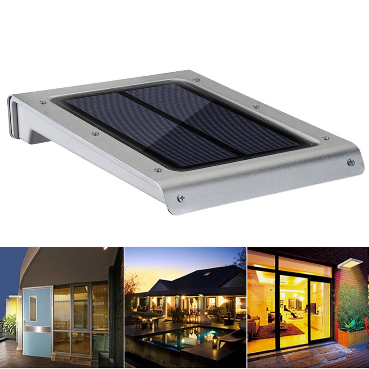 ФОТО Jiawen PIR Motion Sensor  Solar power LED Outdoor lamp ,Waterproof Garden Fence Wall Yard Path Security Lamps Series